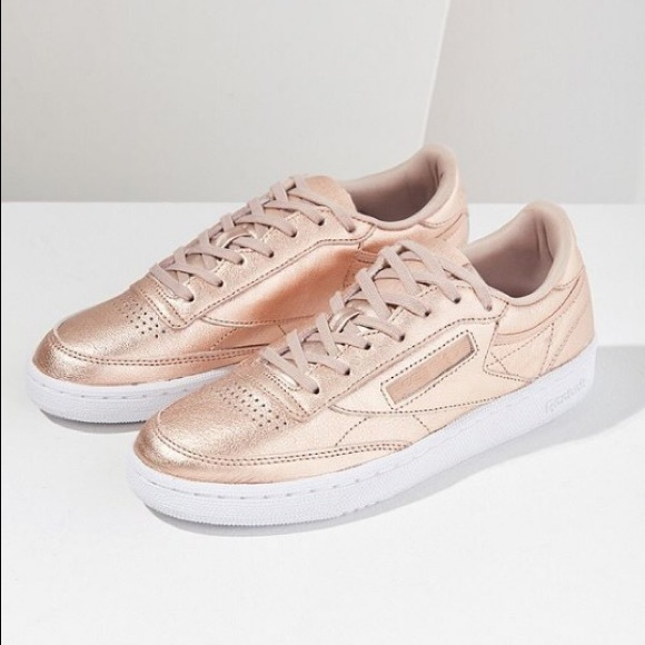 8276554da2e697 Reebok Shoes - Women s Reebok Club C 85 Leather - Rose Gold